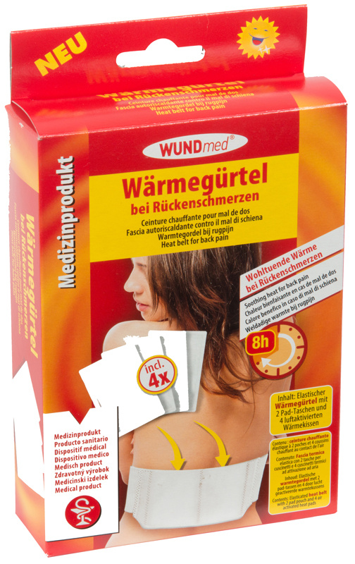 WUNDmed   Warmtegordel met 4 warmtekussens
