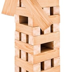 Outdoor Games Stapeltoren XXL - hout - 60 delig