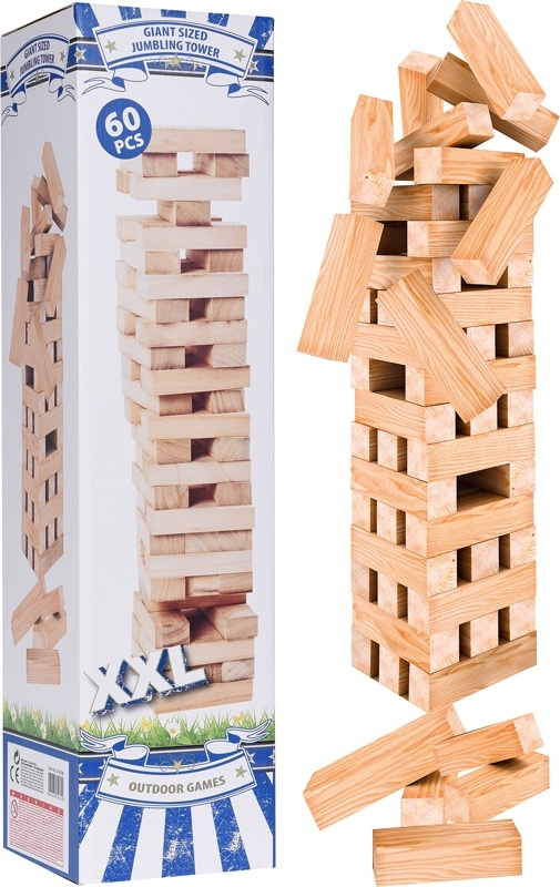 Outdoor Games Stapeltoren XXL - hout - 60 delig