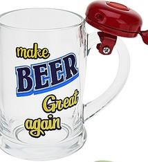 Bierpul met bel - rood