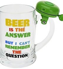 Bierpul met bel - groen