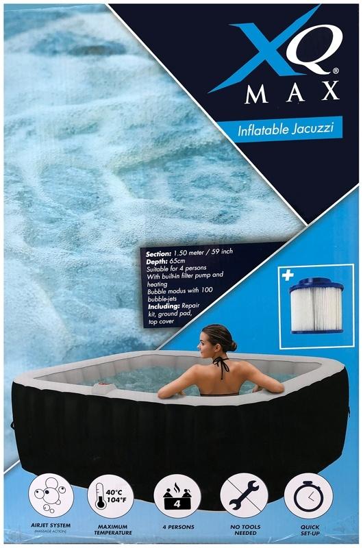 XQ Max Opblaasbaar Bubbelbad - Jacuzzi - 145x65cm