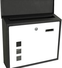 Kynast Metalen brieven - zwart/wit - met vensters