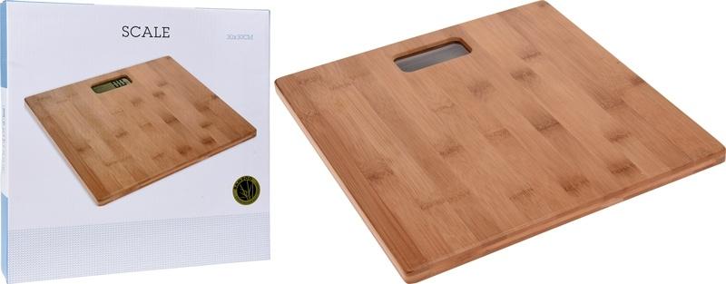Bathroom Solutions Personenweegschaal bamboe - 30x30cm