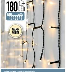 DecorativeLighting IJspegel verlichting 180 LED's 6 meter warm wit