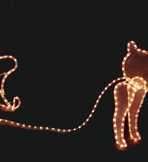 DecorativeLighting 3D Rendier slee 504 lampjes