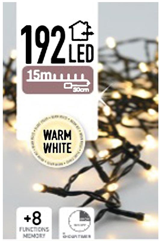 DecorativeLighting Kerstverlichting 192 LED's - warm wit - op batterij