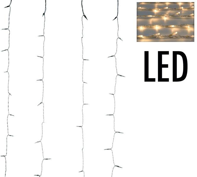 DecorativeLighting Gordijnverlichting - 320LED - 100x200cm - warm wit