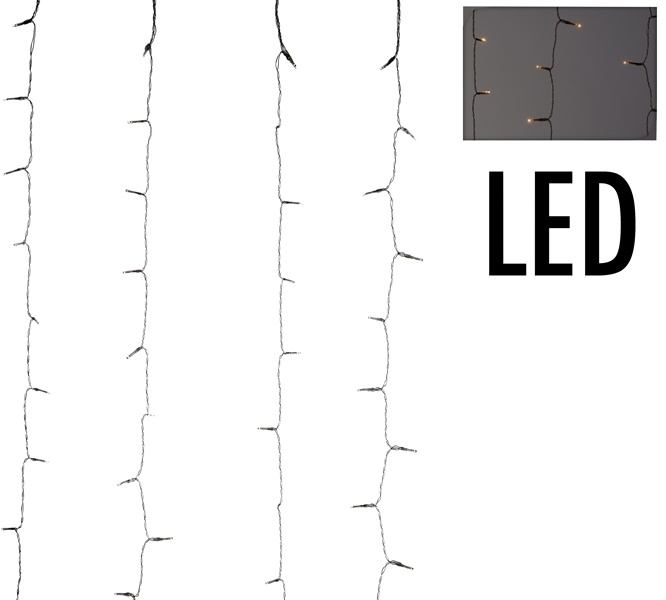 DecorativeLighting Gordijnverlichting - 480LED - 225x300cm - warm wit