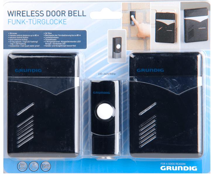 Grundig Draadloze deurbel op netstroom 2 ontvangers
