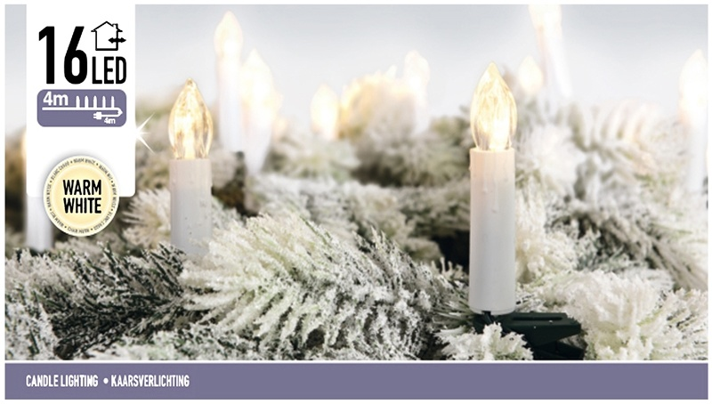 DecorativeLighting Kaarsverlichting 16 LED - warm wit