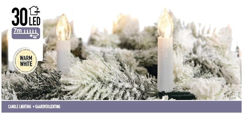 DecorativeLighting Kaarsverlichting 30 LED - warm wit