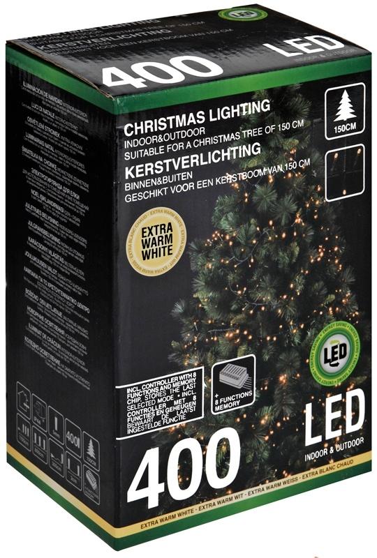 DecorativeLighting Kerstverlichting - 400 LED - voor kerstboom van 150cm
