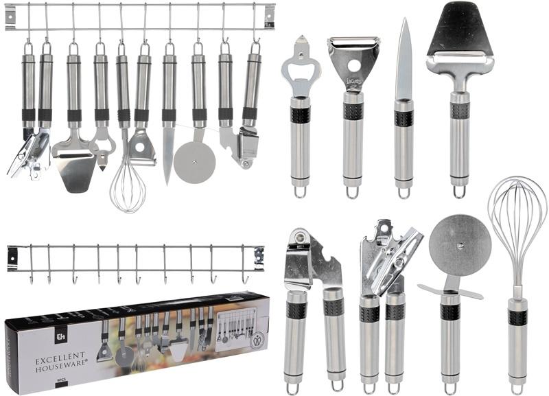 Excellent Houseware Keukenset RVS - 9 delig