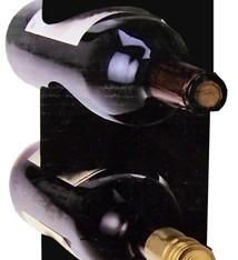Excellent Houseware Metalen Wijnrek - muurmodel - zwart