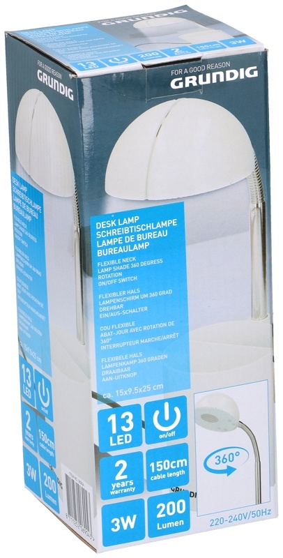 Grundig Bureaulamp met flexibele hals - 13 LED's