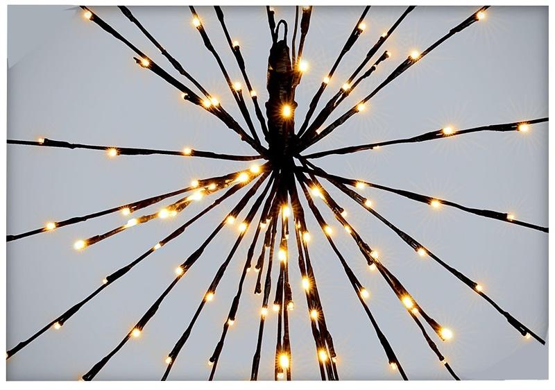 Verlichte sterbal - 70cm - 160 LED's - flashing