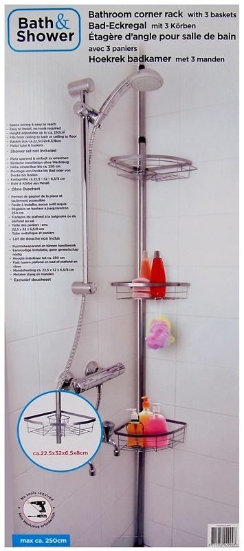 Bath & Shower Badkamer Hoekrek met 3 manden