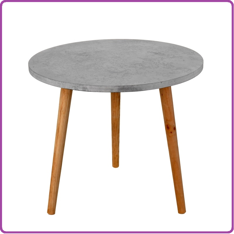 Home & Styling Bijzettafel betonlook 49cm
