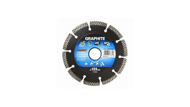 Graphite Graphite 57H868 Diamantschijf 230x22x8,0x2,5mm, Segment Type X, Gelaserd, Harde Materialen MPA EN13236