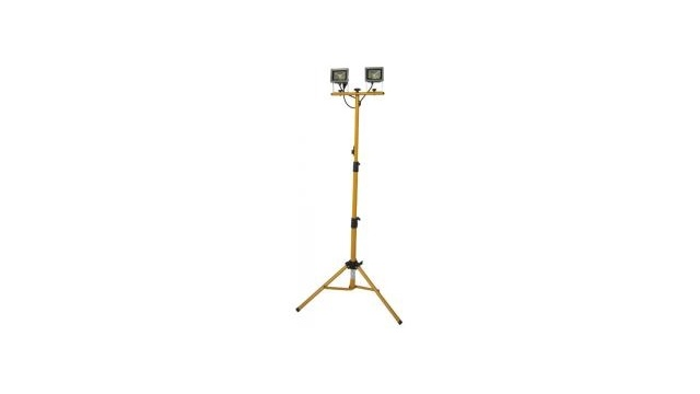 LTC LTC LF210R-TP Draagbare Oplaadbare LED Projector met Dimmerfinctie Op Standaard 2x 10W IP65