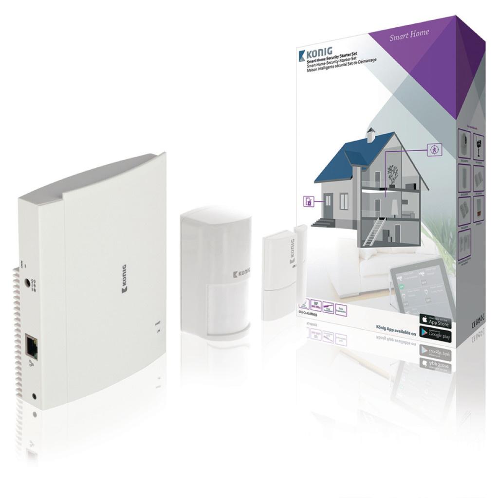 König SAS-CLALARM05 Smart Home Security-set Wi-fi / 868 Mhz