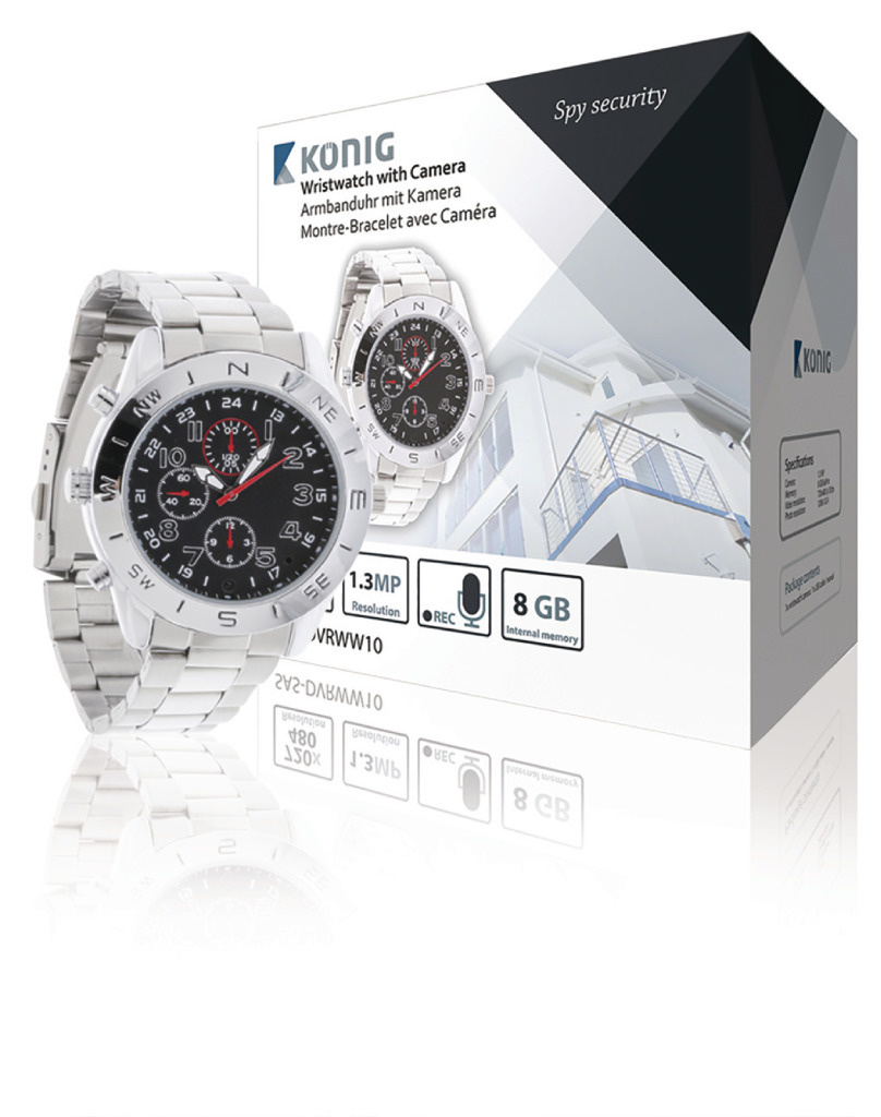 König SAS-DVRWW10 Horloge Met Geïntegreerde Camera