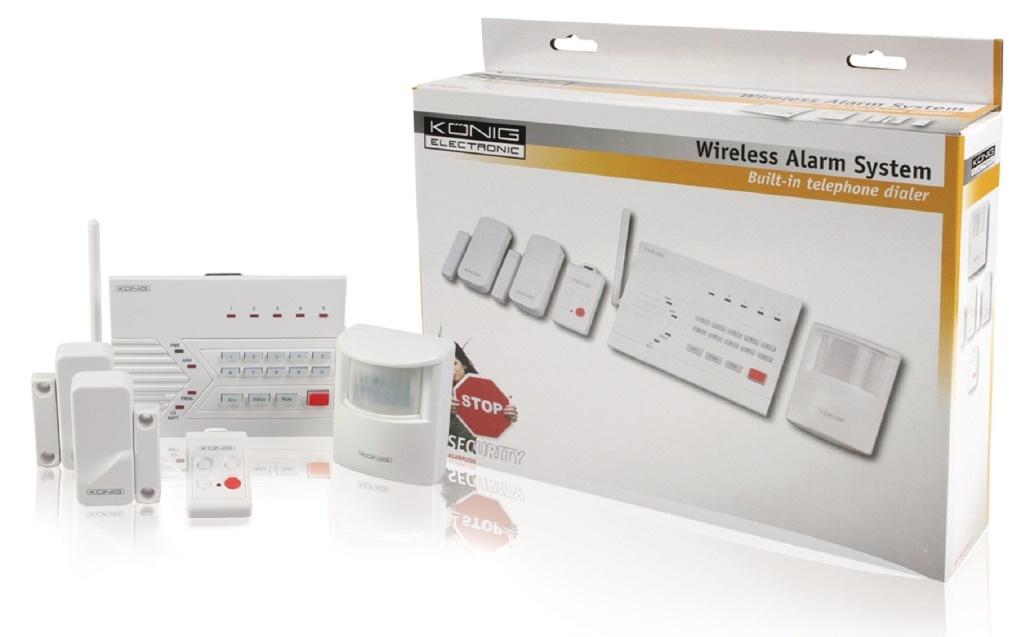 König König Sec-alarm200 Draadloos Alarmsysteem