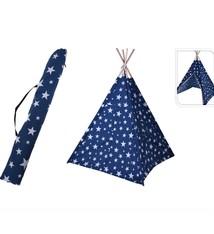 Basic Kids Collection Speeltent Tippie 103x103x160 cm Blauw/Wit