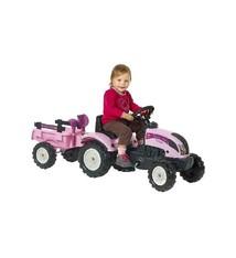 Falk Falk Princess Tractor Pink + Aanhanger 2/5