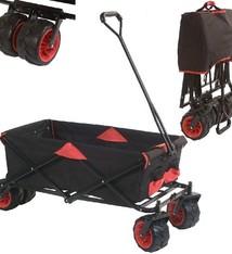 Basic Bolderwagen Opvouwbaar Zwart