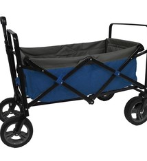 Outdoor Outdoor Opvouwbare Bolderwagen Blauw/Grijs/Zwart