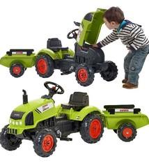 Falk Falk Claas Tractor Arion 410 Tractor + Aanhanger 2-5