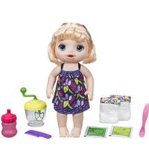 Hasbro Hasbro Baby Alive Sweet Spoonfuls Blonde Babypop met Poppenvoeding en Accessoires