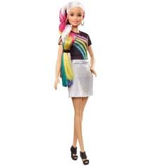 Barbie Barbie Pop met Regenboog Haar + Glitters en Accessoires
