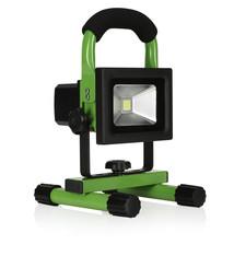 Smartwares Smartwares 10.030.51 LED Bouwlamp Oplaadbaar 10W Zwart/Groen
