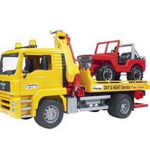 Bruder Bruder MAN TGA Afsleep Takelwagen + Jeep