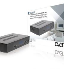 König König DVB-T2 FTA20 Full Hd Dvb-t2 Ontvanger 1080p