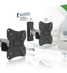 "König König KNMA-SFM20S Tv Muurbeugel Draai- En Kantelbaar 13 - 26 "" 30 Kg"