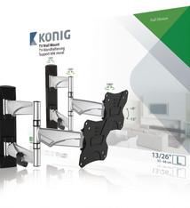 "König König KNMA-SFM30S Tv Muurbeugel Draai- En Kantelbaar 13 - 26 "" 30 Kg"