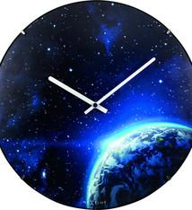 NeXtime NeXtime NE-3176 Wandklok Dia. 35 Cm, Bol Glas, 'Globe Dome'
