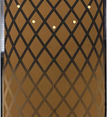 NeXtime NeXtime NE-3216CO Wandklok 30x70 Cm, Glas/spiegel, Koper