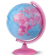 Atmosphere Atmosphere NR-0325PIPI-NL Globe Pink 25cm Nederlandstalig Kunststof Voet Met Verlichting