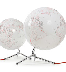 Atmosphere Atmosphere NR-0331NONO-GB Globe Nodo 30cm Diameter Met Verlichting Wit / Rood