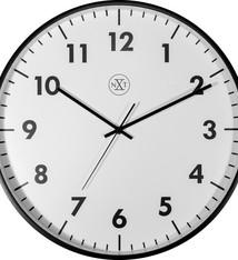 NeXtime NeXtime NX-7317 Wandklok NXT Diameter 40cm Kunststof Zwart, Witte Wijzerplaat