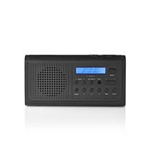 Nedis Nedis RDDB1500BK Dab+-radio 3 W Fm Klok- En Alarmfunctie Zwart