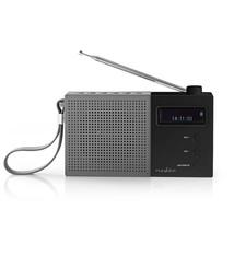 Nedis Nedis RDDB2210BK Digitale Dab+ Radio 4,5 W Fm Klok & Alarm Grijs / Zwart