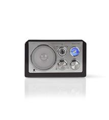 Nedis Nedis RDFM5100BK Fm-radio 9 W Analoge Tuning Retro Design Zwart