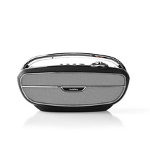 Nedis Nedis RDFM5300BK Fm-radio 60 W Bluetooth® Zwart / Zilver