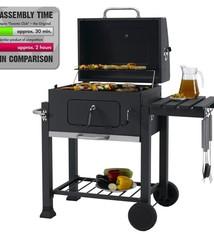 Tepro Tepro Toronto Click Houtskool Barbecue met Inzetrooster RVS/Zwart